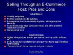 selling through an e commerce host pros and cons