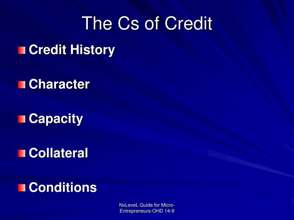 The Cs of Credit