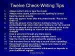 twelve check writing tips