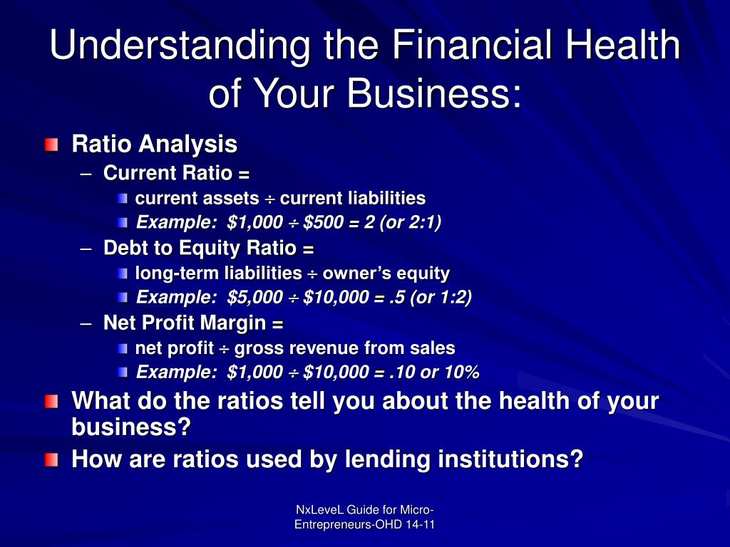 Understanding the Financial Health of Your Business: