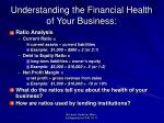 understanding the financial health of your business