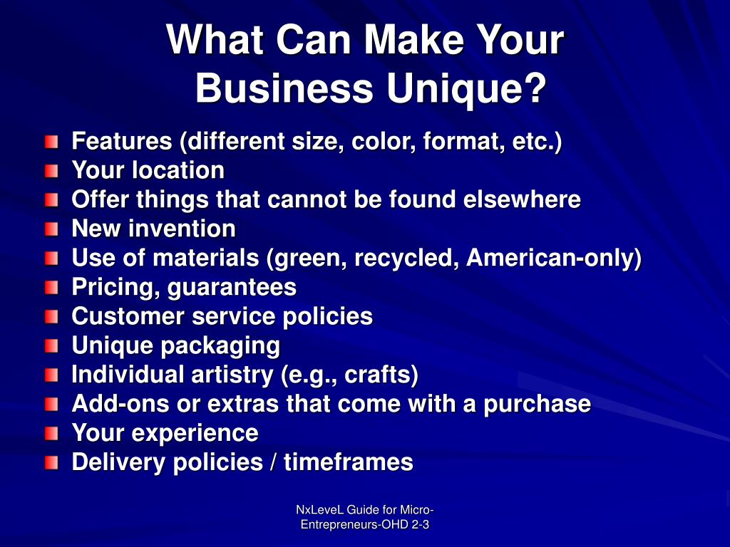 What Can Make Your