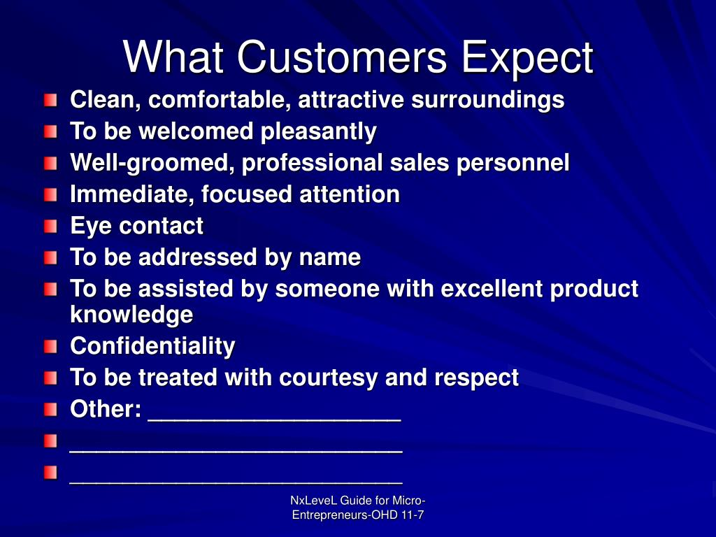 What Customers Expect
