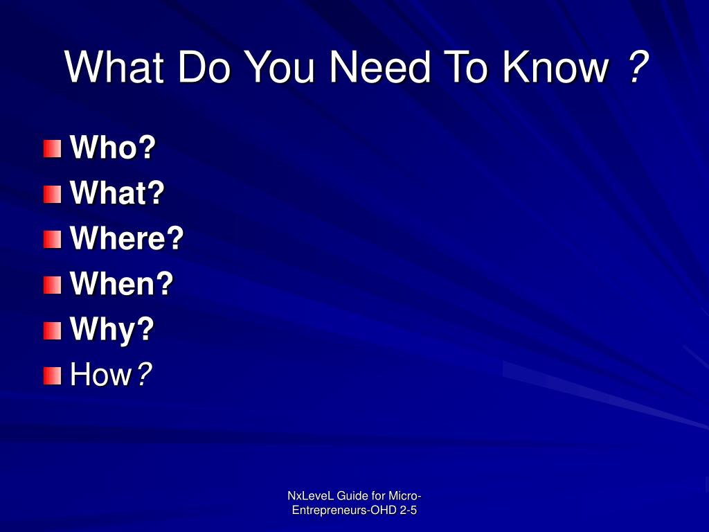 What Do You Need To Know