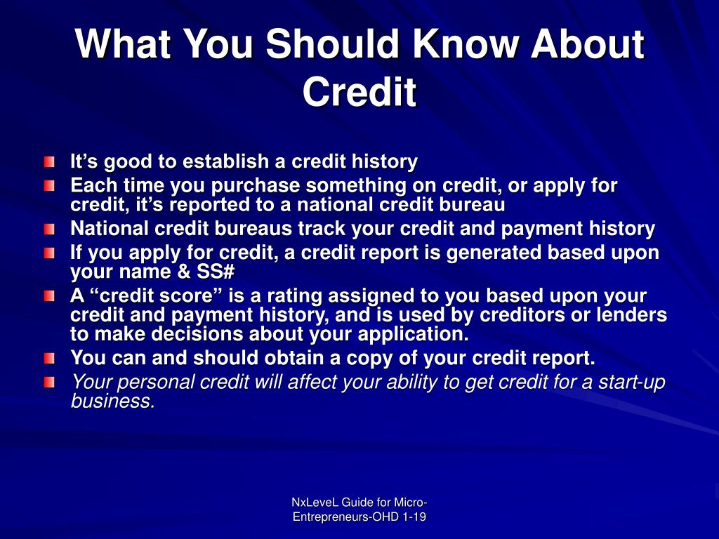 What You Should Know About Credit