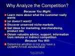 why analyze the competition