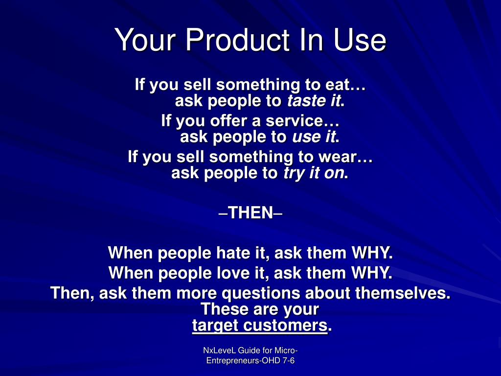 Your Product In Use