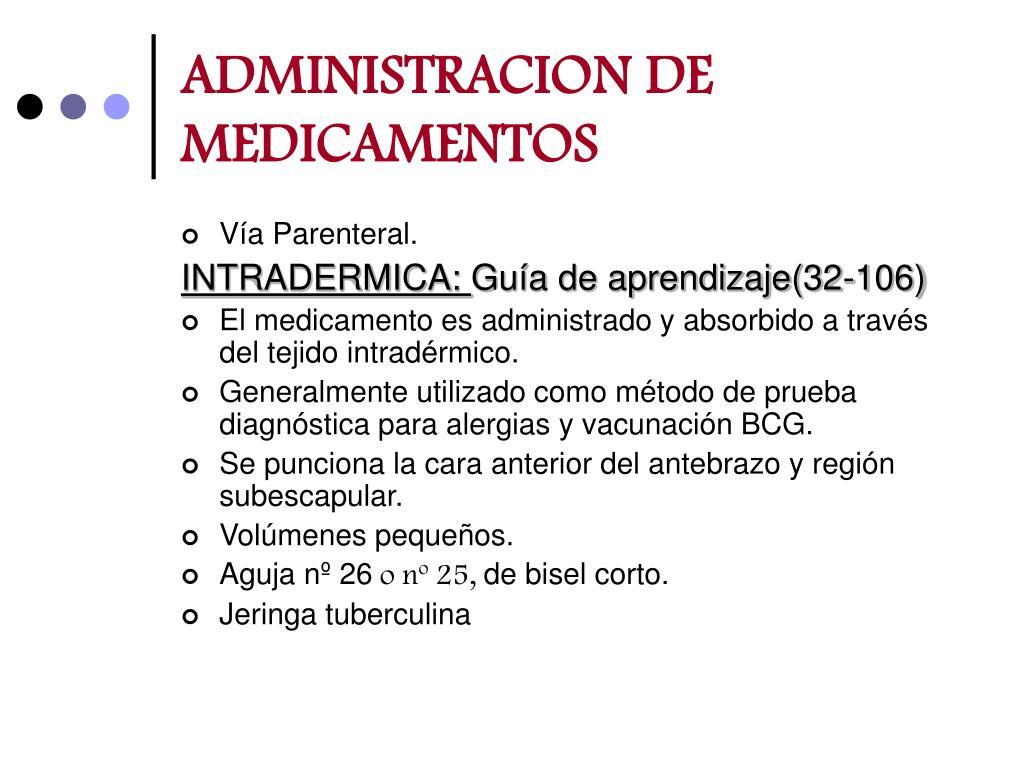 administracion de medicamentos l.