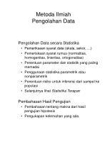 metoda ilmiah pengolahan data66