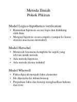 metoda ilmiah pokok pikiran21
