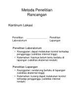 metoda penelitian rancangan