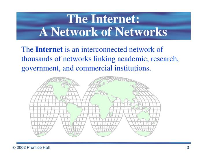 The internet a network of networks
