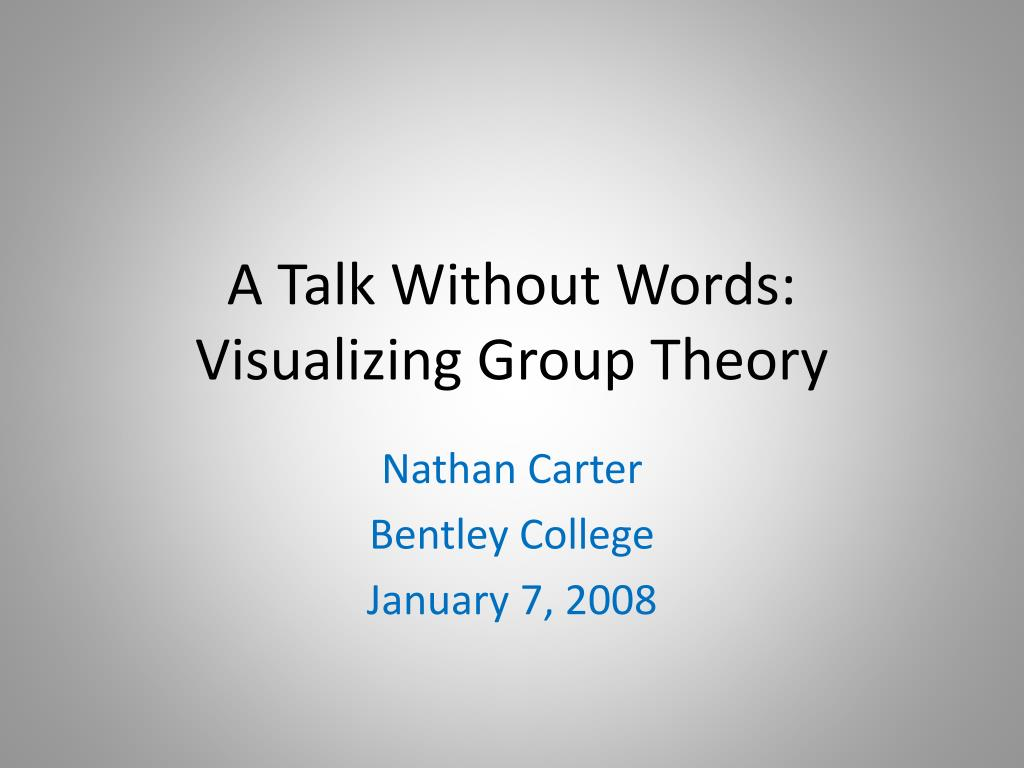 a talk without words visualizing group theory l.