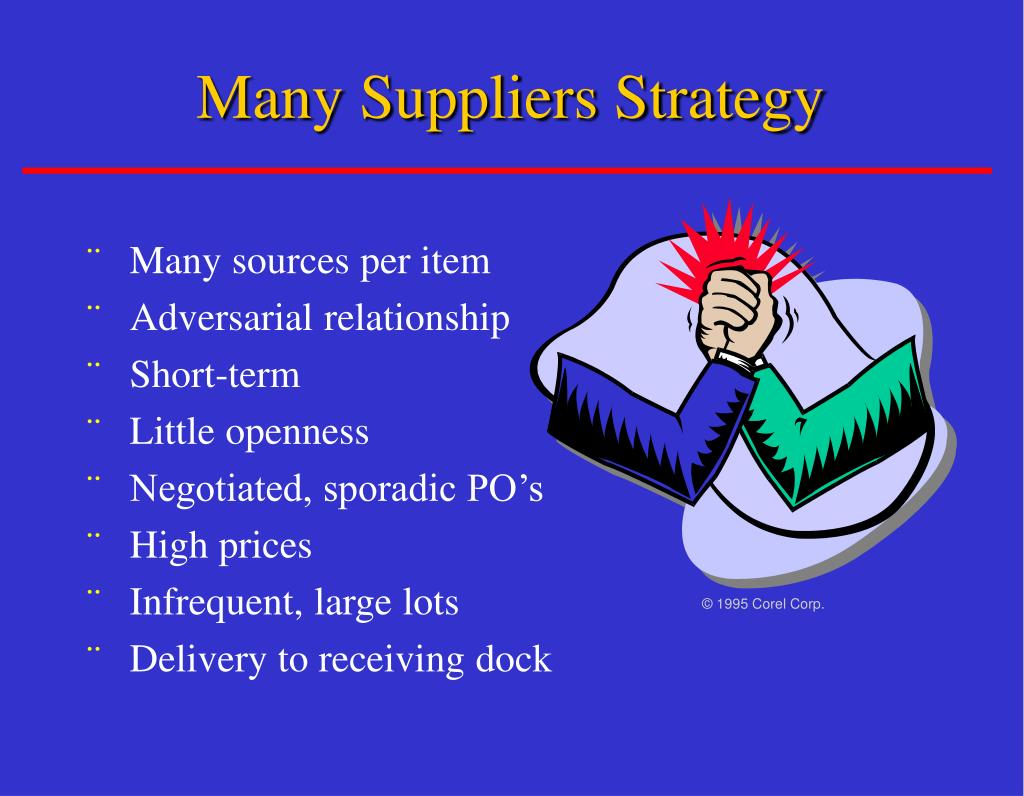 Many Suppliers Strategy