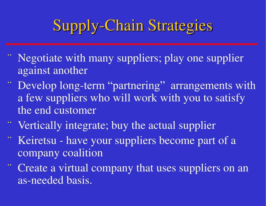 Supply-Chain Strategies