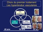 choix du premier traitement les hypertendus vasculaires