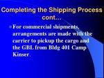 completing the shipping process cont