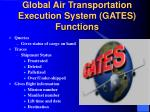 global air transportation execution system gates functions