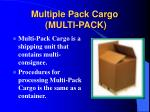 multiple pack cargo multi pack
