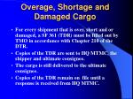 overage shortage and damaged cargo
