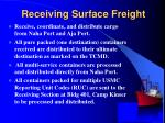 receiving surface freight