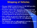 shipping of vehicles