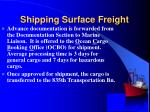 shipping surface freight