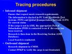 tracing procedures
