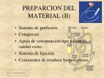 preparcion del material ii