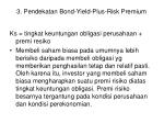 3 pendekatan bond yield plus risk premium