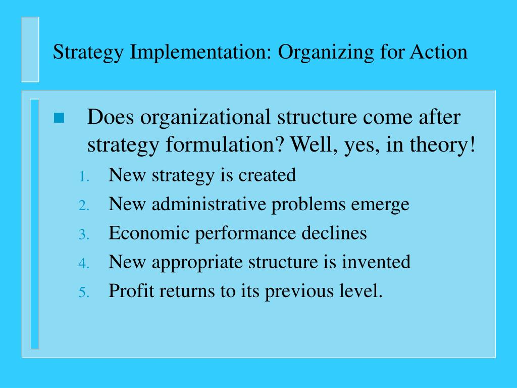 PPT - Strategy Implementation: Organizing for Action PowerPoint