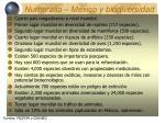 numeralia m xico y biodiversidad