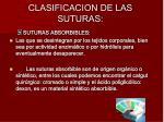 clasificacion de las suturas
