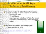 statistics from the iitf report the emerging digital economy