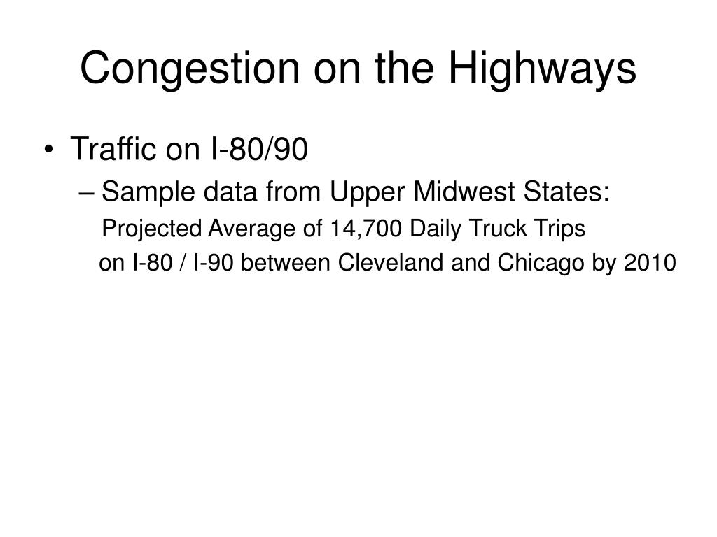 Congestion on the Highways