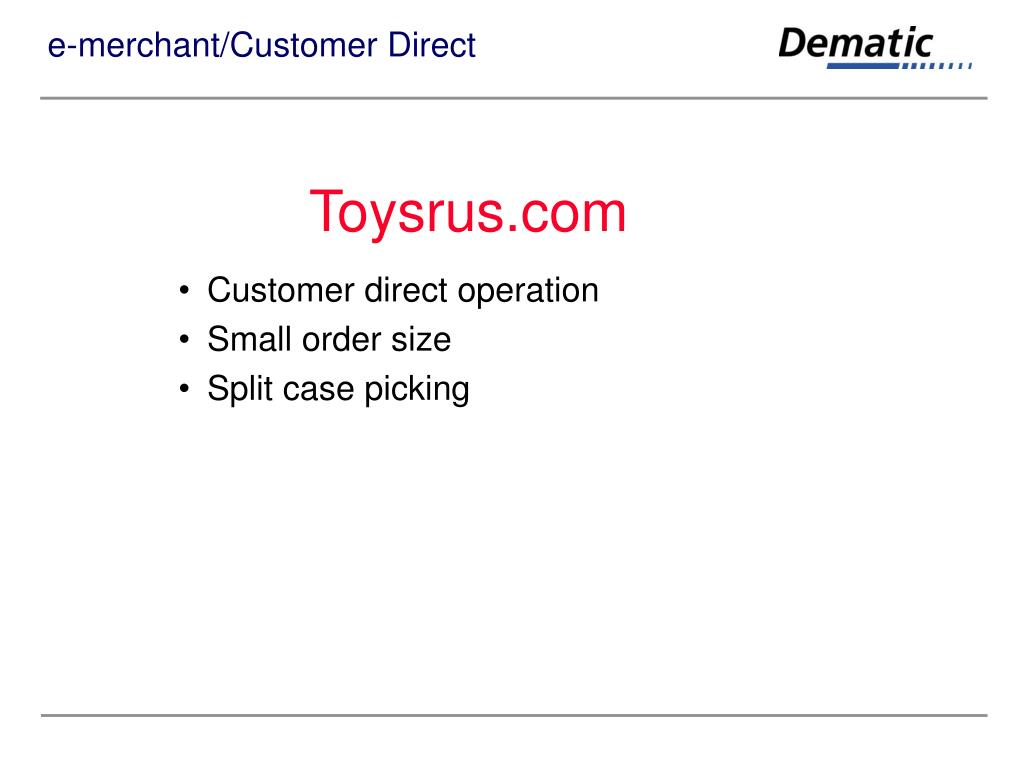 e-merchant/Customer Direct