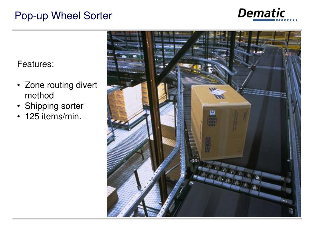 Pop-up Wheel Sorter