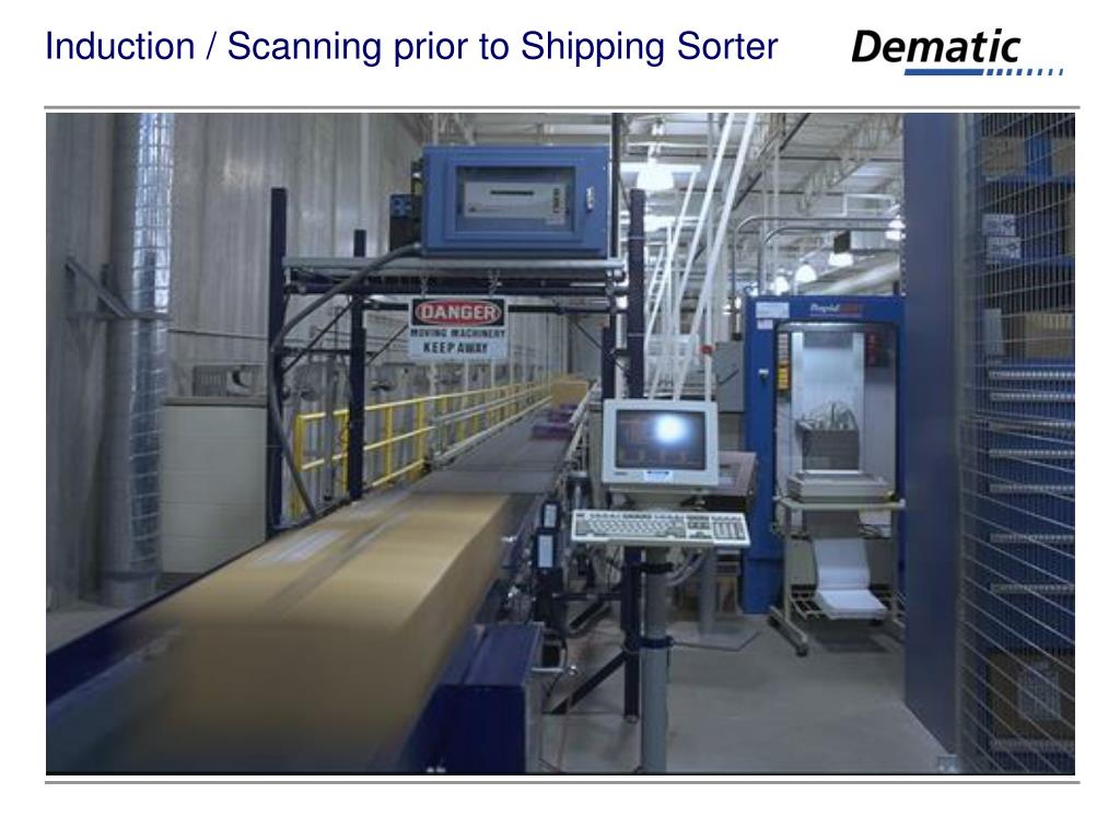 Induction / Scanning prior to Shipping Sorter