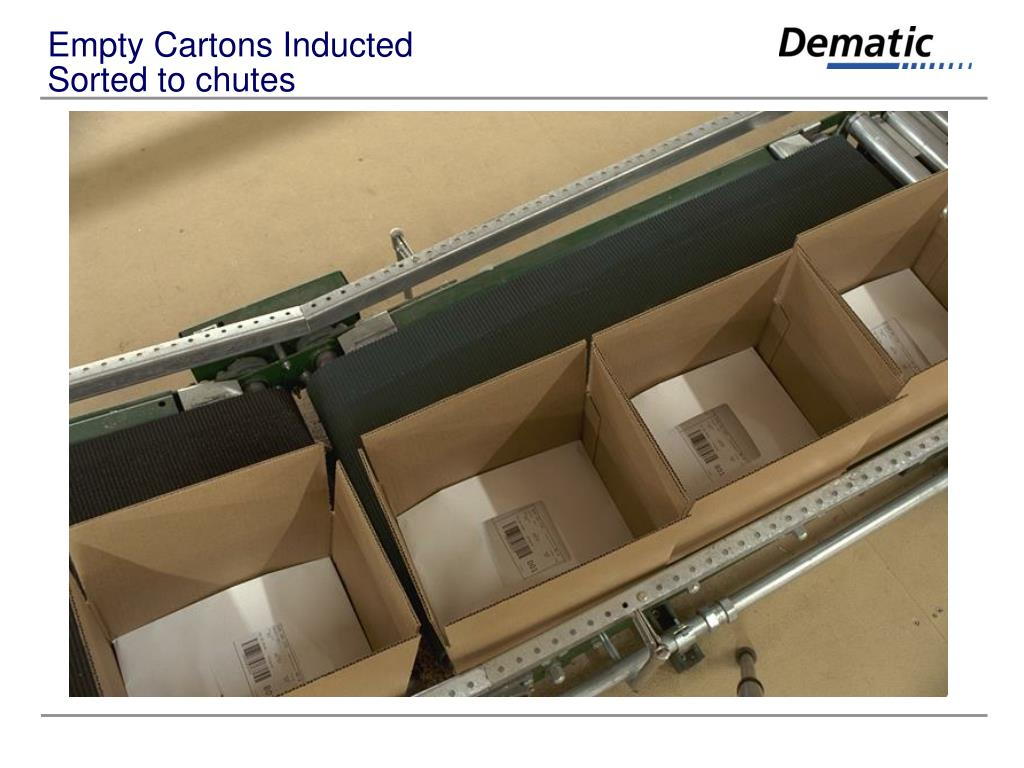 Empty Cartons Inducted