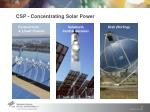 csp concentrating solar power