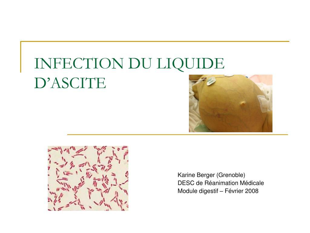 infection du liquide d ascite l.