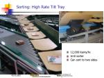 sorting high rate tilt tray