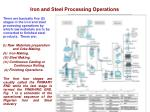 iron and steel processing operations