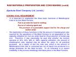 raw materials preparation and coke making contd7