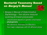 bacterial taxonomy based on bergey s manual