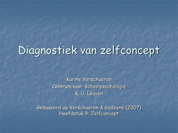 diagnostiek van zelfconcept n.