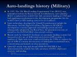 auto landings history military