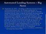 automated landing systems big news