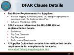 dfar clause details