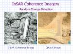insar coherence imagery random change detection